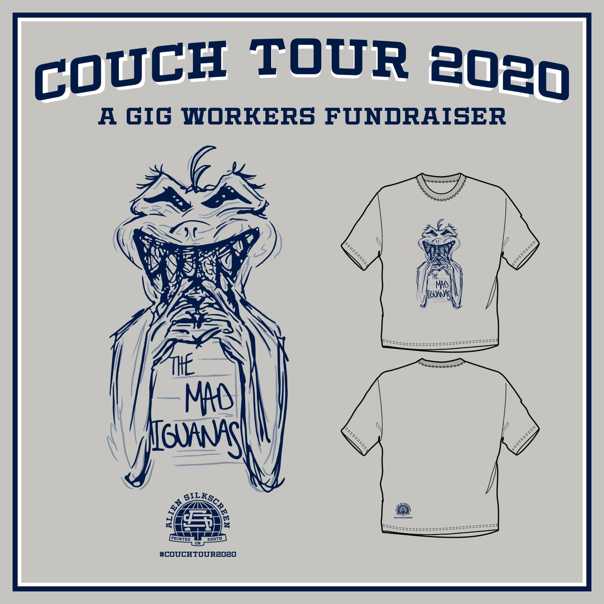 The Mad Iguanas Couch Tour 2020 (Gig Workers Fundraiser)
