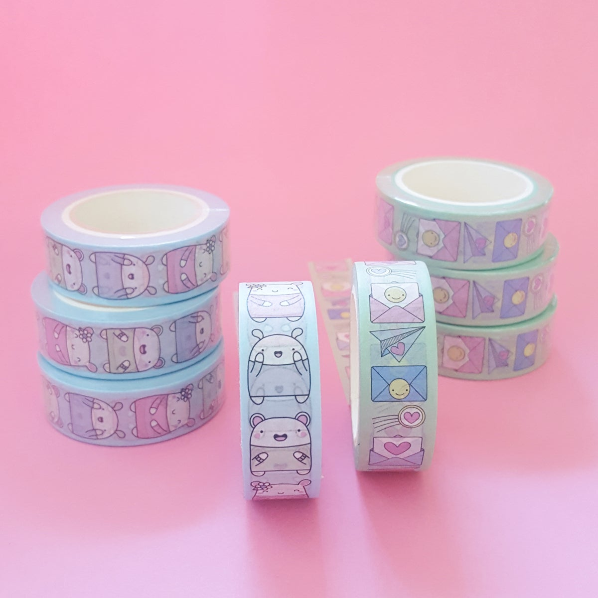 Critters & Smiley Snail Mail Washi Tape