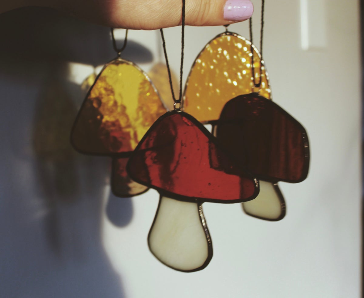 Image of Mushroom Ornaments - Set of Four