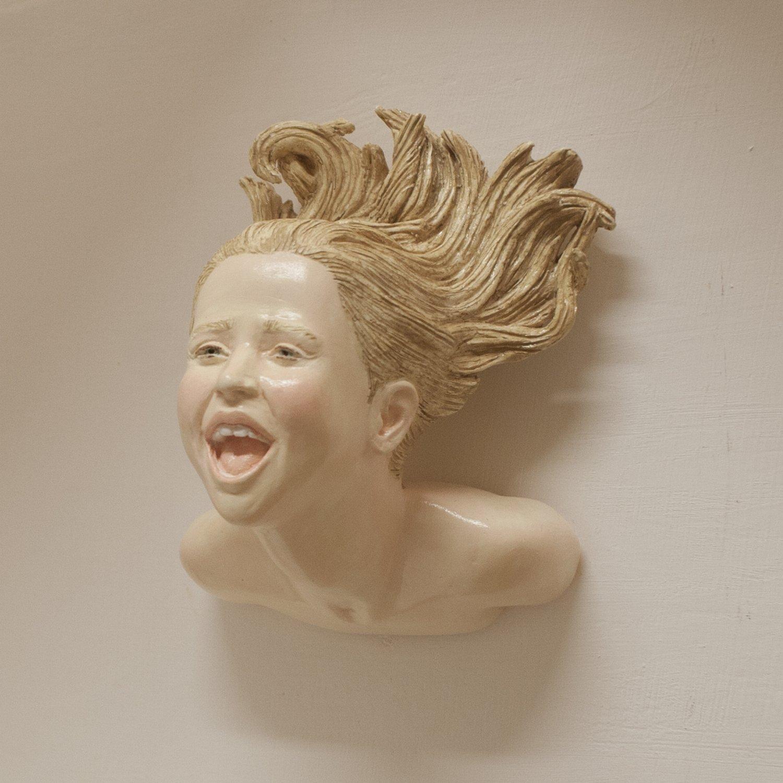 """HEADS """"NON TRATTIENE"""" wall sculpture"""