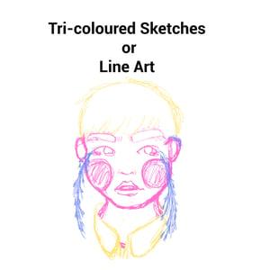 Image of Tri-Colour Sketch / Line Art