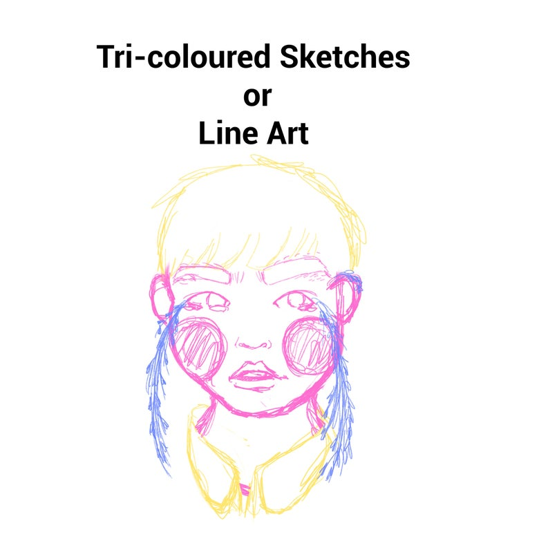 Image of Tri-Colour Sketch / Line Art