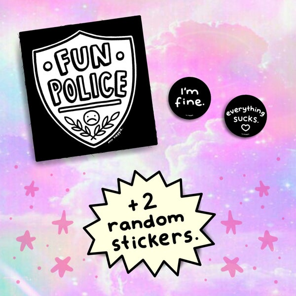 Image of The fun police patch set