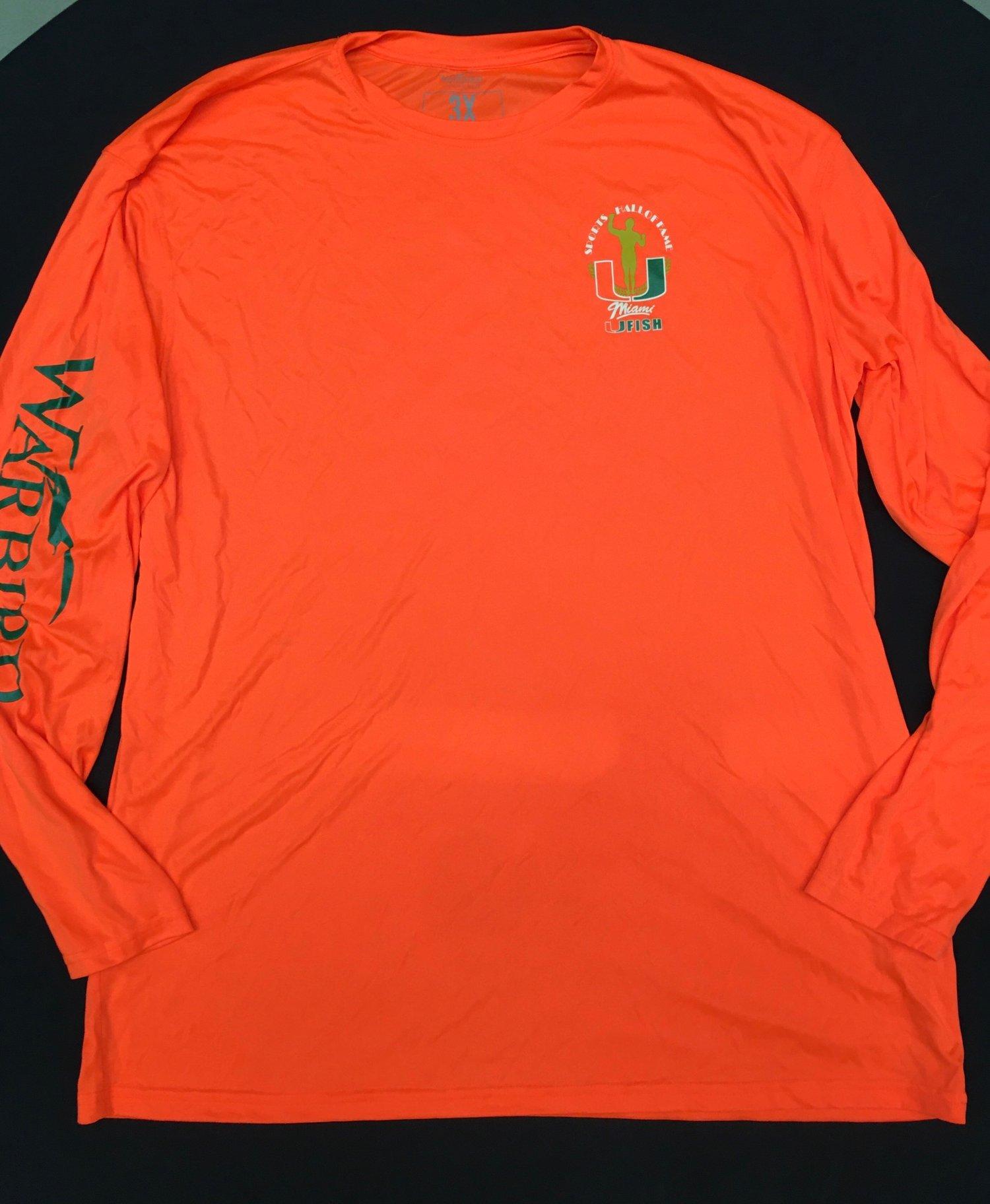 Image of 2017 U Fish Orange Long Sleeve 3X ONLY  Shirt