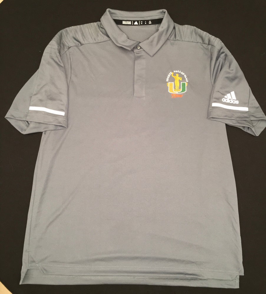 Image of Men's Grey Addidas Golf Polo Shirt