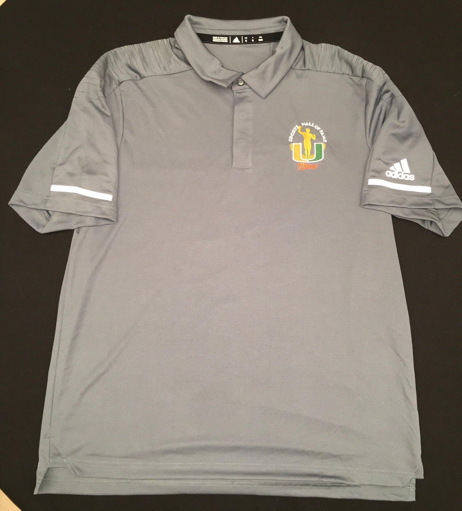 Image of Men's Grey Addidas Golf Polo Shirt