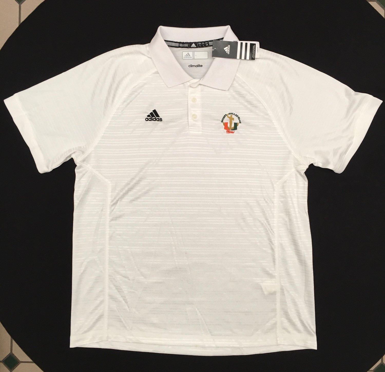 Image of Men's White Addidas Polo Golf Shirt