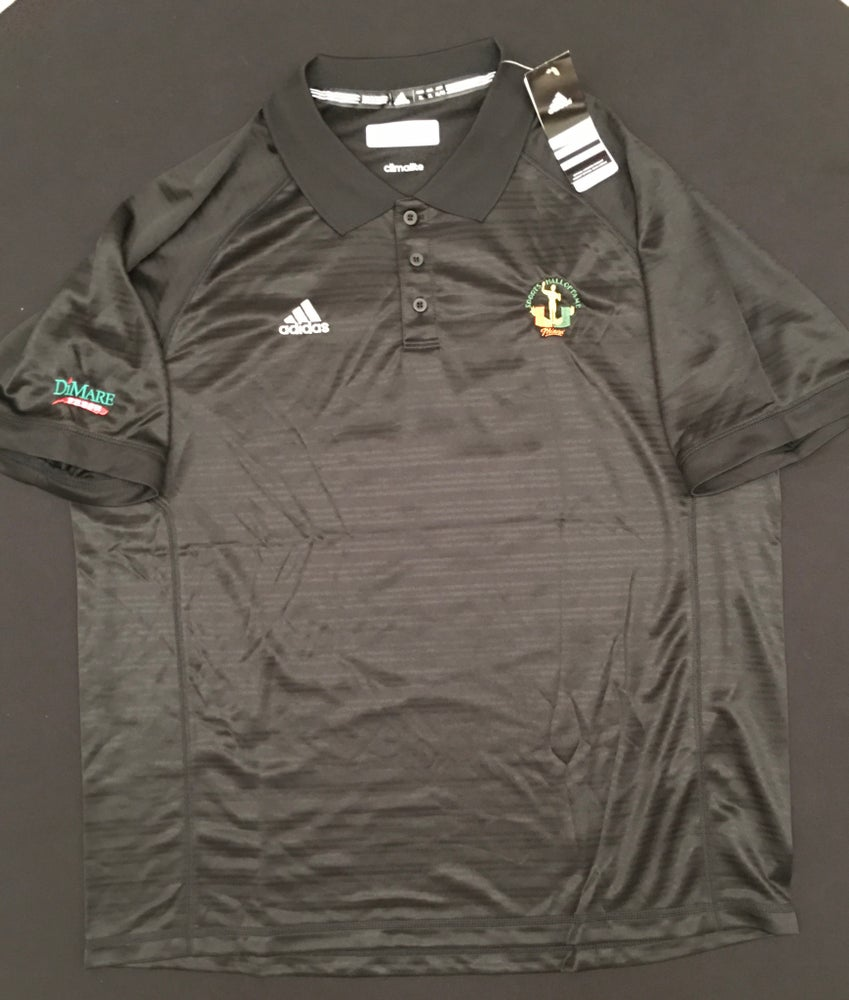 Image of Men's Black Addidas Golf Polo Shirt