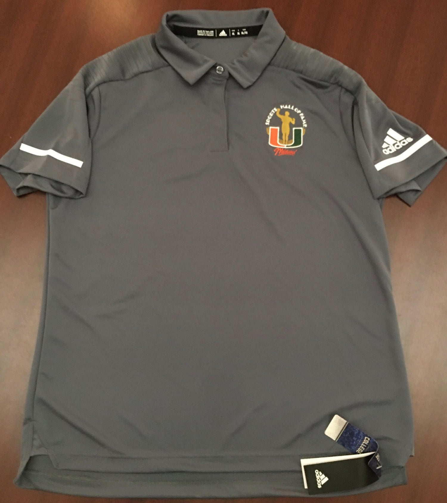 Image of Women's Grey Addidas Golf Polo Shirt