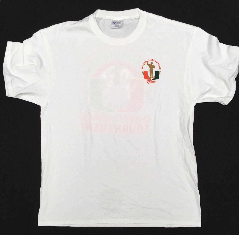 Image of White UMSHoF Celebrity Bowling Tee Shirt
