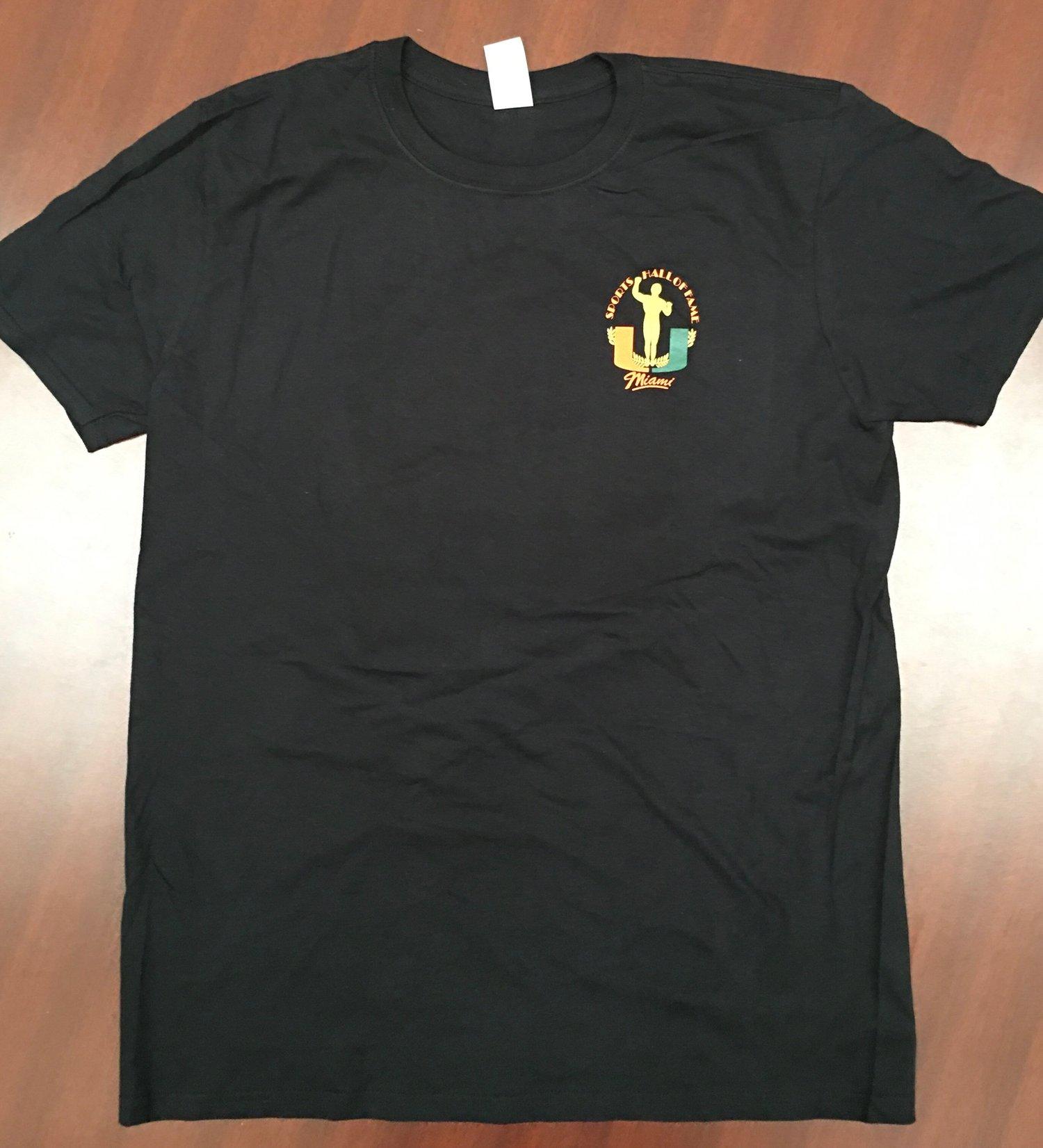 Image of Black UMSHoF Celebrity Bowling Tournament Tee Shirt