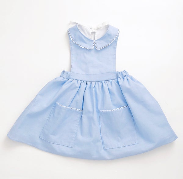 Image of Lil Blu Pinafore- last one