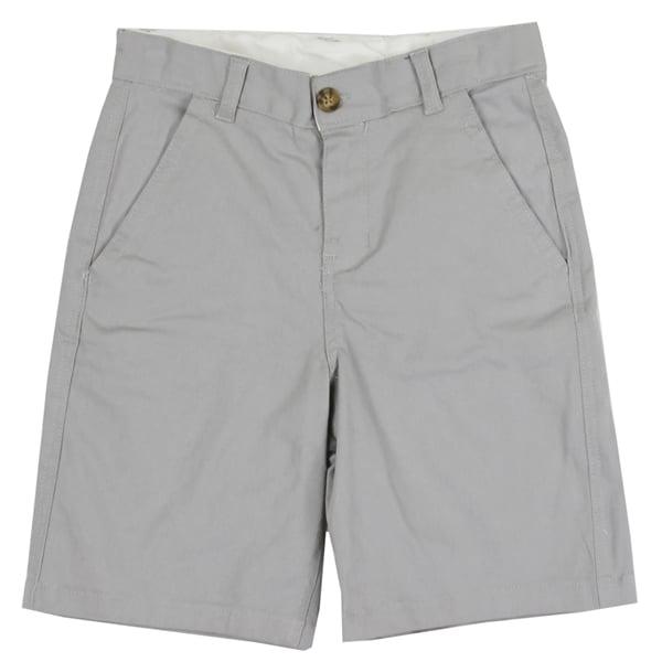 Image of Boys Gray Twill Cotton Aeropostale  Shorts