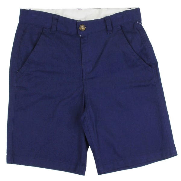 Image of Boys Navy Twill Cotton Aeropostale Shorts