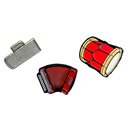 Image of 'El Trio' Enamel Pin Set