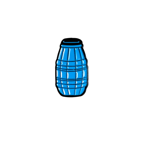 Image of 'Quarter Juice' Enamel Pin