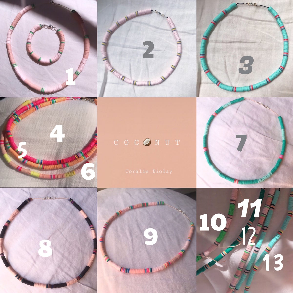 Image of C o c o n u t  bracelets de cheville