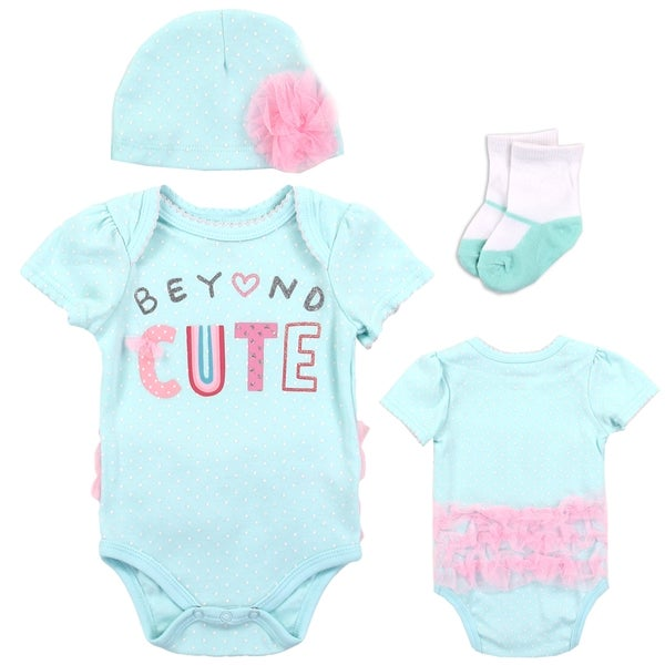 Image of Infant Girls Beyond Cute 3 piece Onesise