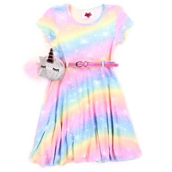 Image of Girls Yummy Dress w/Unicorn Belt Purse