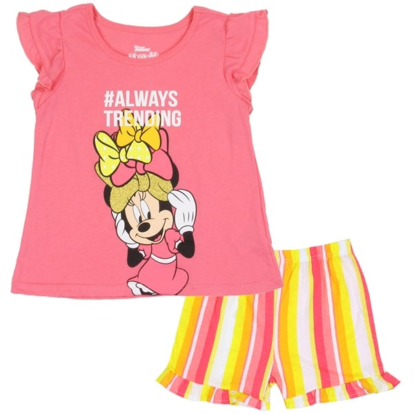 Image of Always Trending Minnie Mouse Short Set