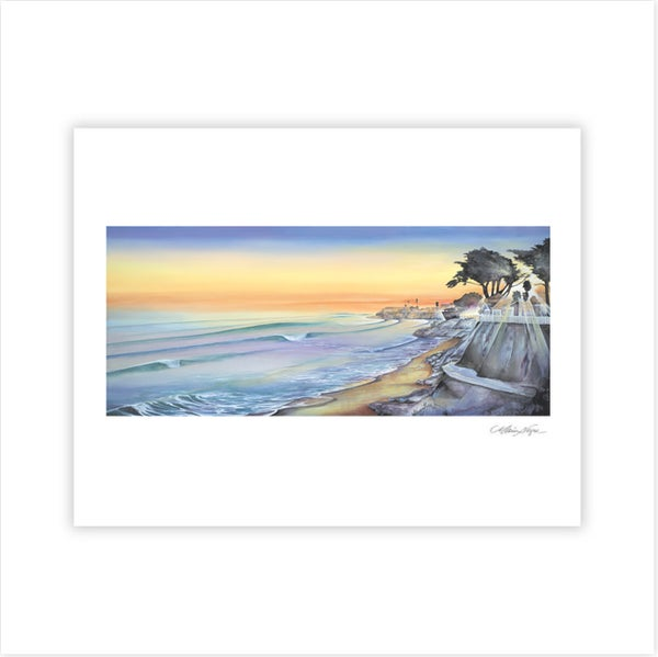 Image of Pleasure Point Sunset, Archival Paper Print $45.00