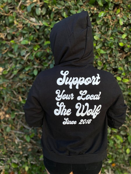 Image of Unisex Black Support Hoodies