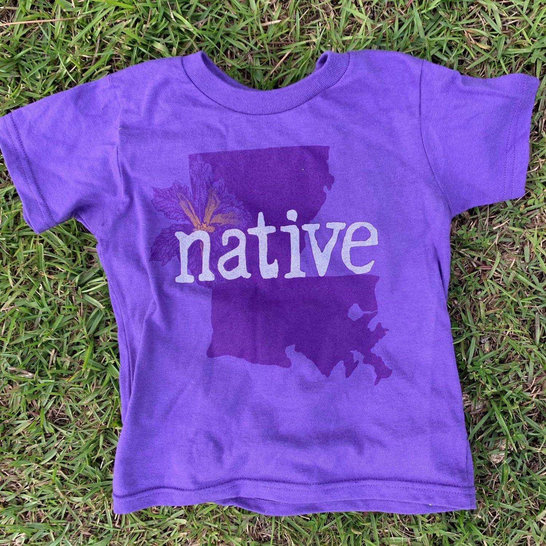 Image of Youth La NATIVE purple tee
