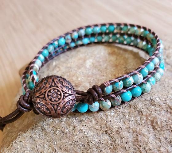 Image of Aqua Terra Jasper Wrap Bracelet