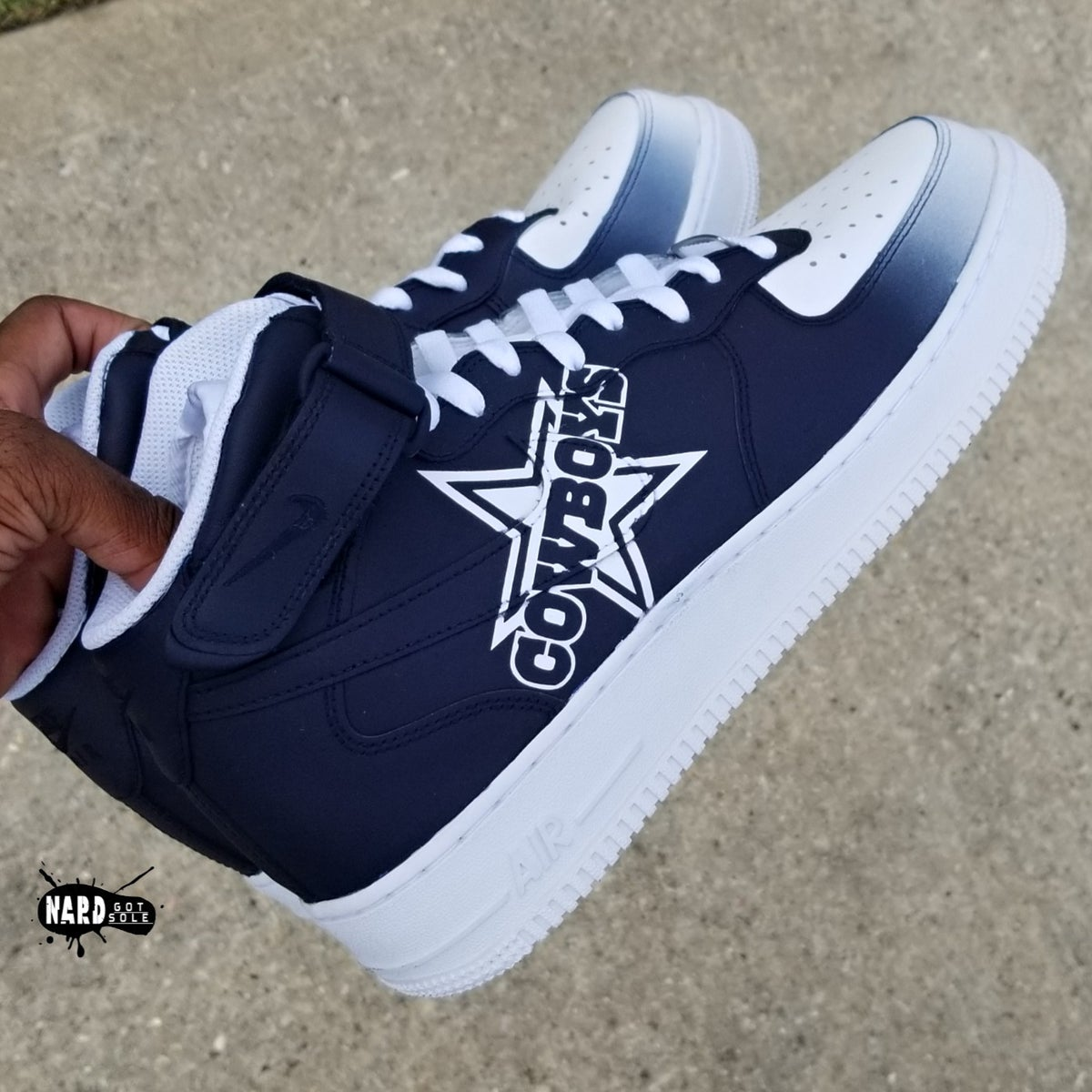 Image of Faded Cowboys AF1 Mid