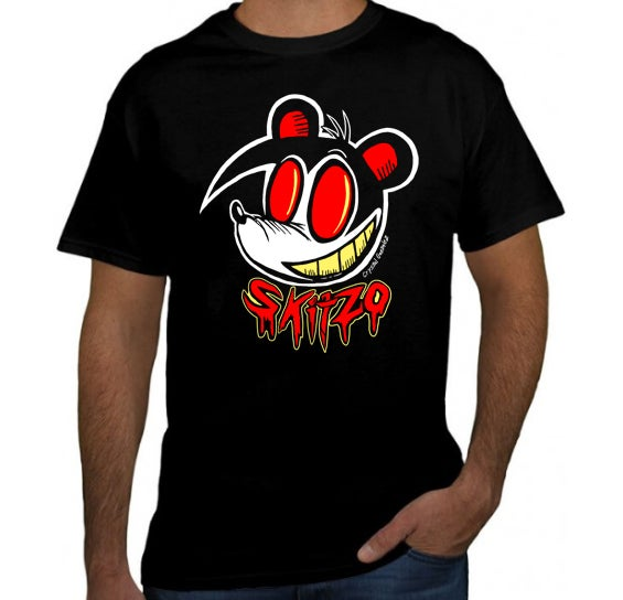 Image of Skitzo Grins T-shirt- COLOR
