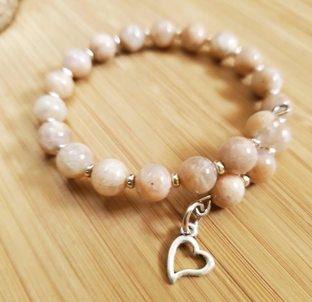 Image of Peach Moonstone Bracelet