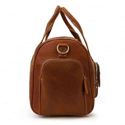 Image of Handmade Genuine Leather Duffel Bag, Travel Bag, Weekender Bag LF9460