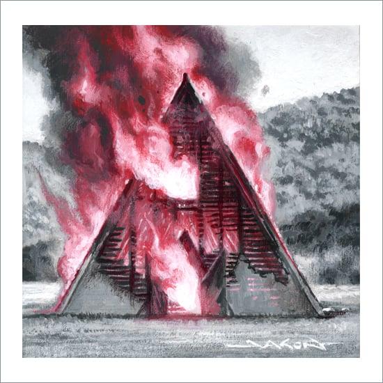 """Sacrificial Temple"" - 5"" x 5"" giclee"