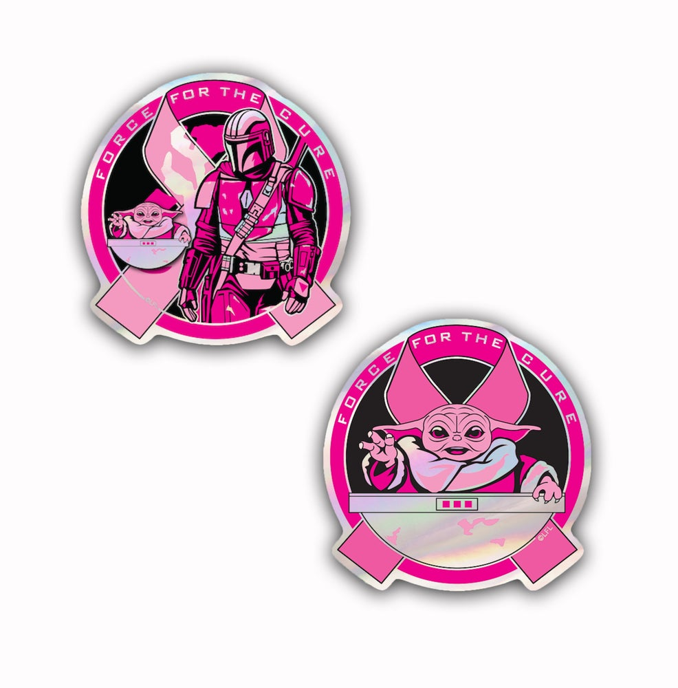 Image of Force For The Cure: Holographic Sticker 2 Pack