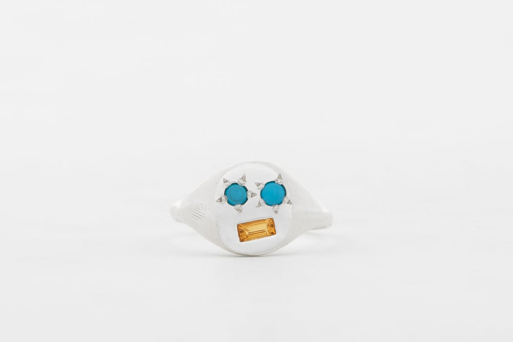 Image of Turquoise mask ring