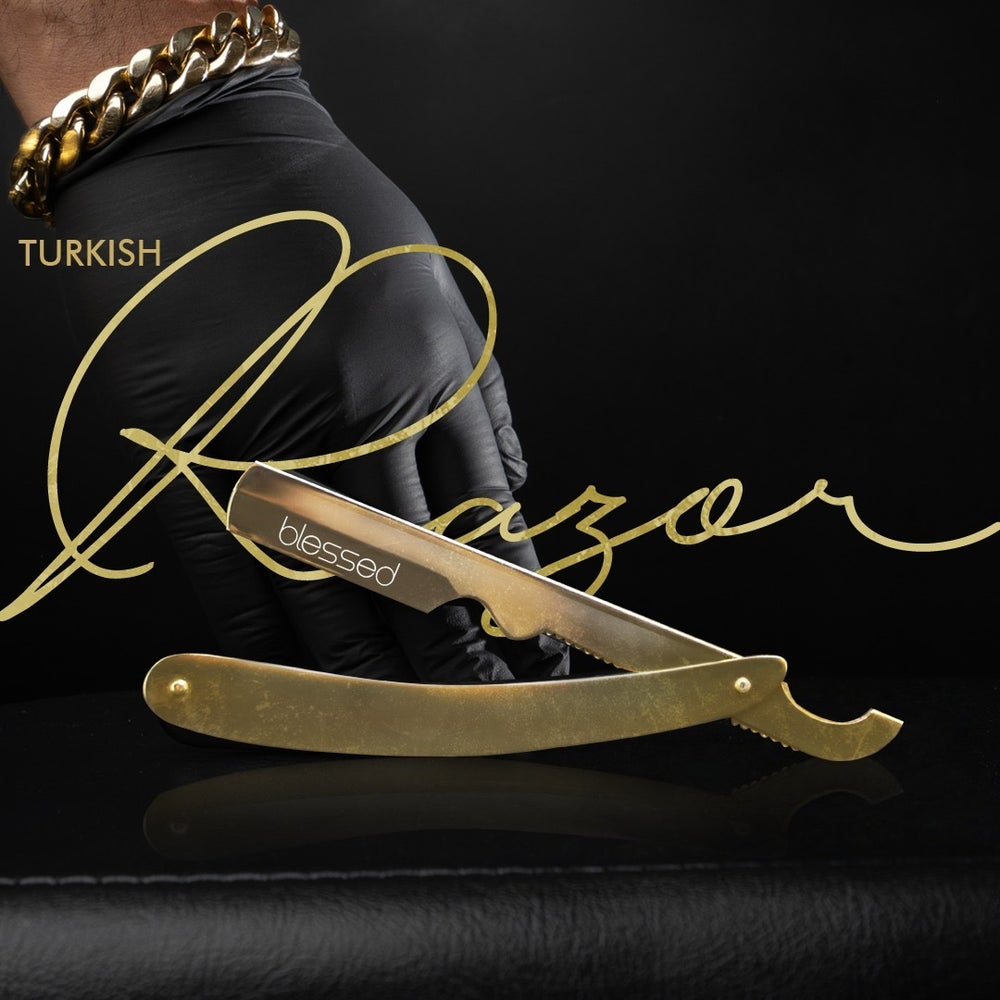Image of Exposed Gold Turkish Razor