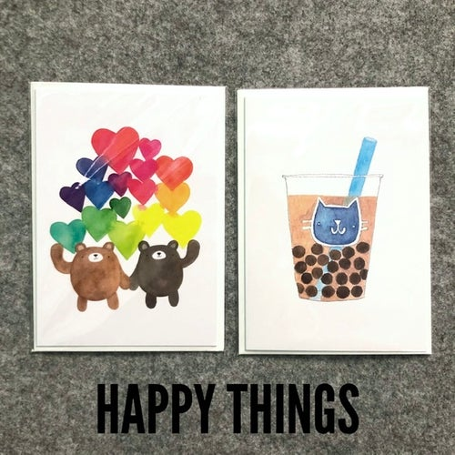 Image of happy mail greeting card pack