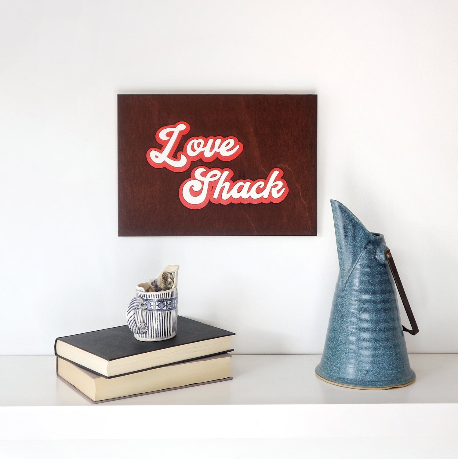 Image of Love Shack Woodcut Picture