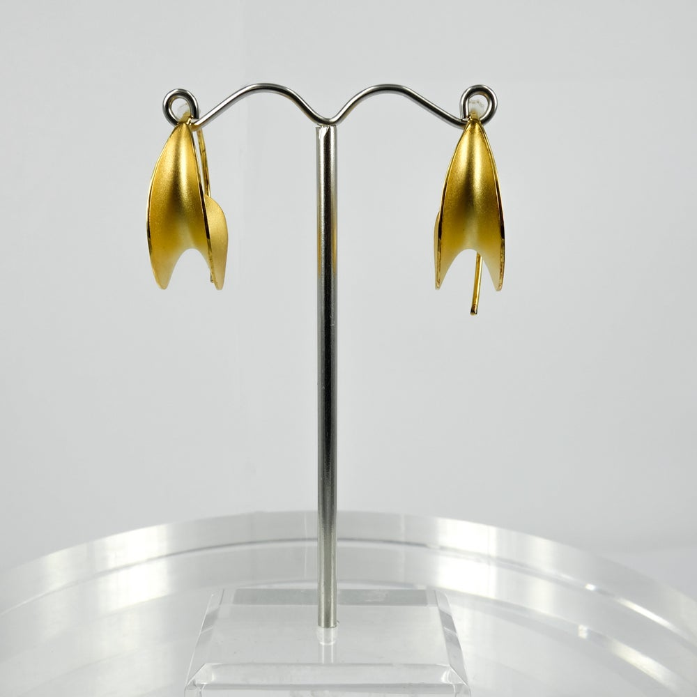 Image of M3148 - Gold plated Mali style earrings
