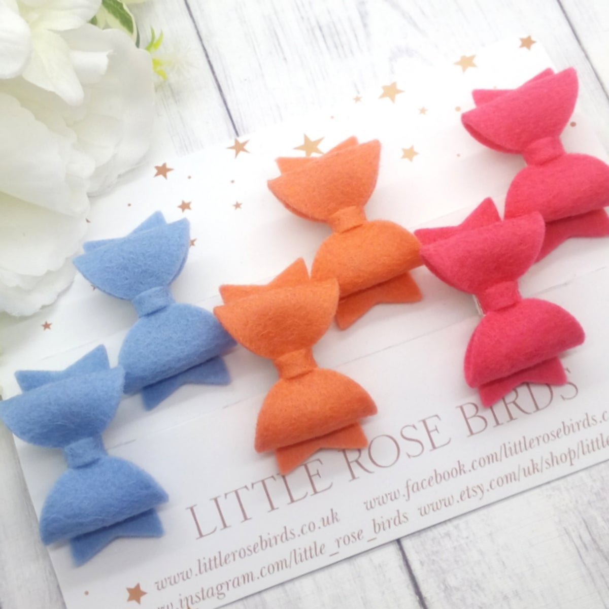 Image of CHOOSE YOUR COLOUR - Set of 3  Dinky Pigtail Clips