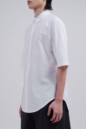Image of TRAN - 簡約藏釦短袖襯衫 (白)