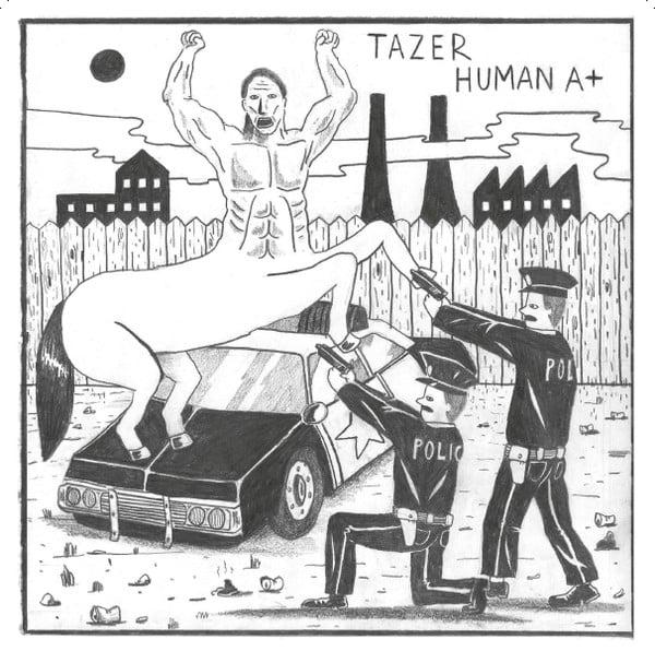 """Image of TAZER """"Human A+"""" 7"""" E.P."""
