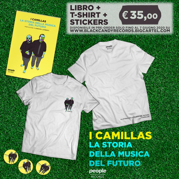 Image of I Camillas # bundle [libro + t-shirt + adesivi]
