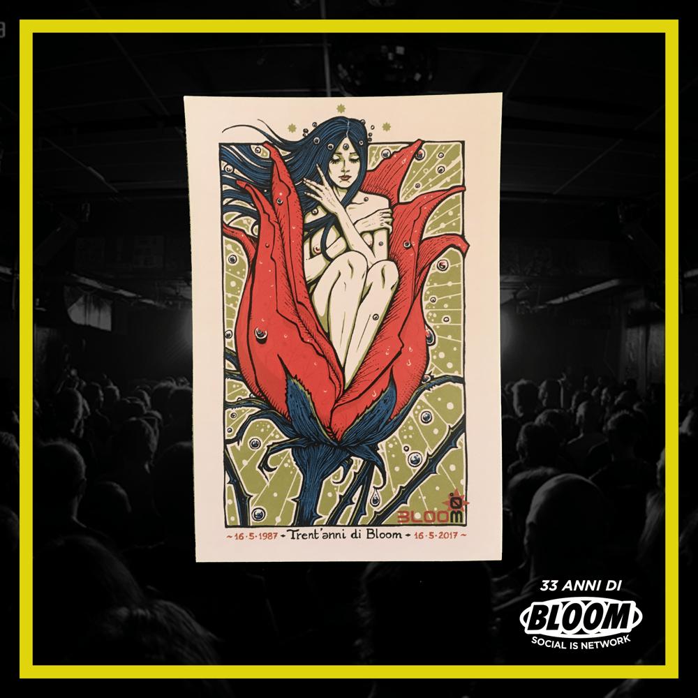 """Poster Malleus Art Lab """"30 anni di Bloom"""""""