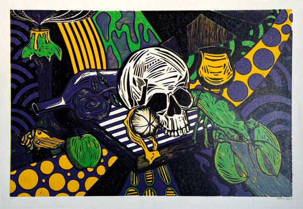 Image of Vanitas Reduction Linocut by Jordan Gray