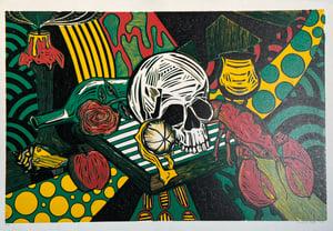 Image of Vanitas Reduction Linocut by Jordan Gray