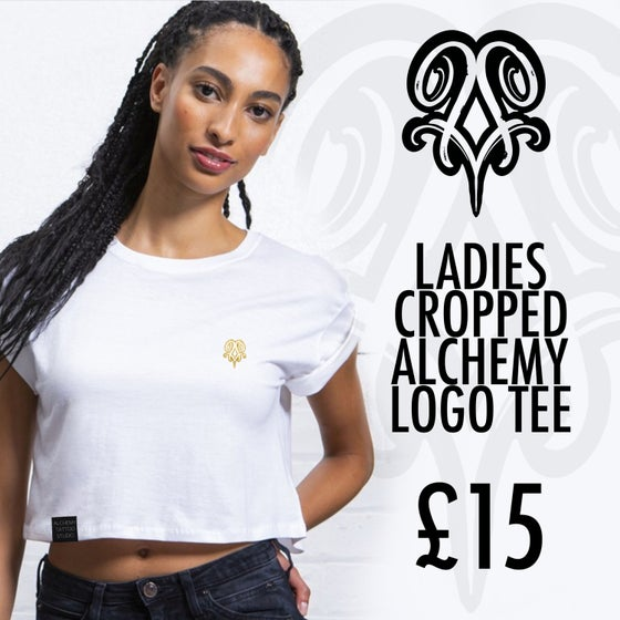 Image of LADIES CROPPED ALCHEMY TEE (WHITE)