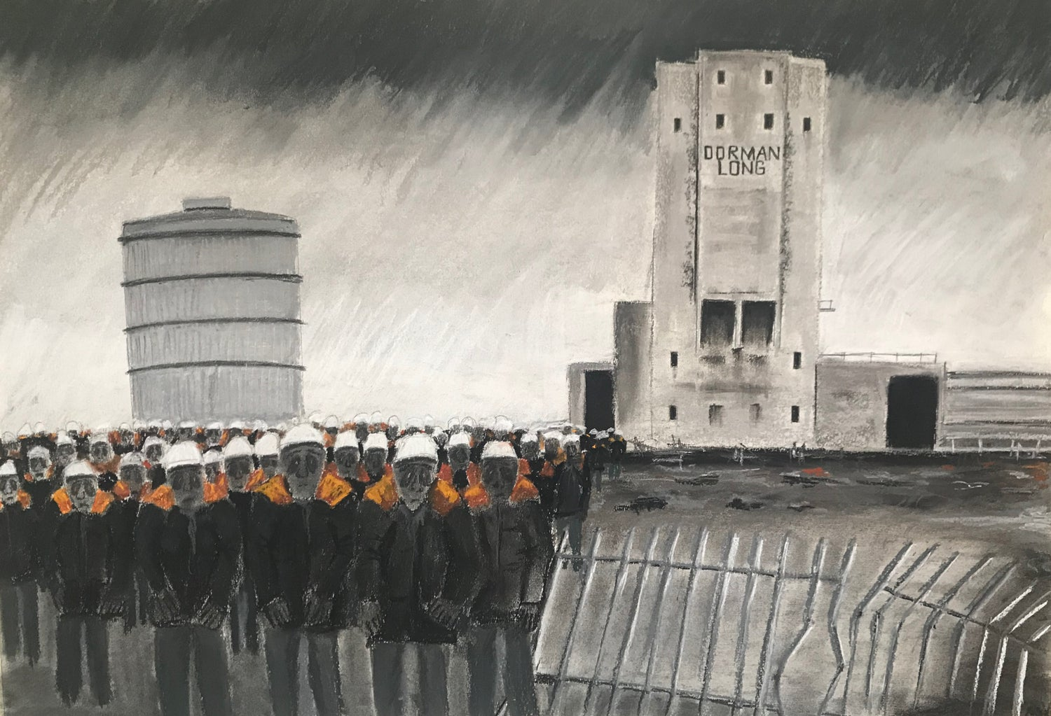Image of Ghosts of the Tees - Coke ovens (Giclee print)