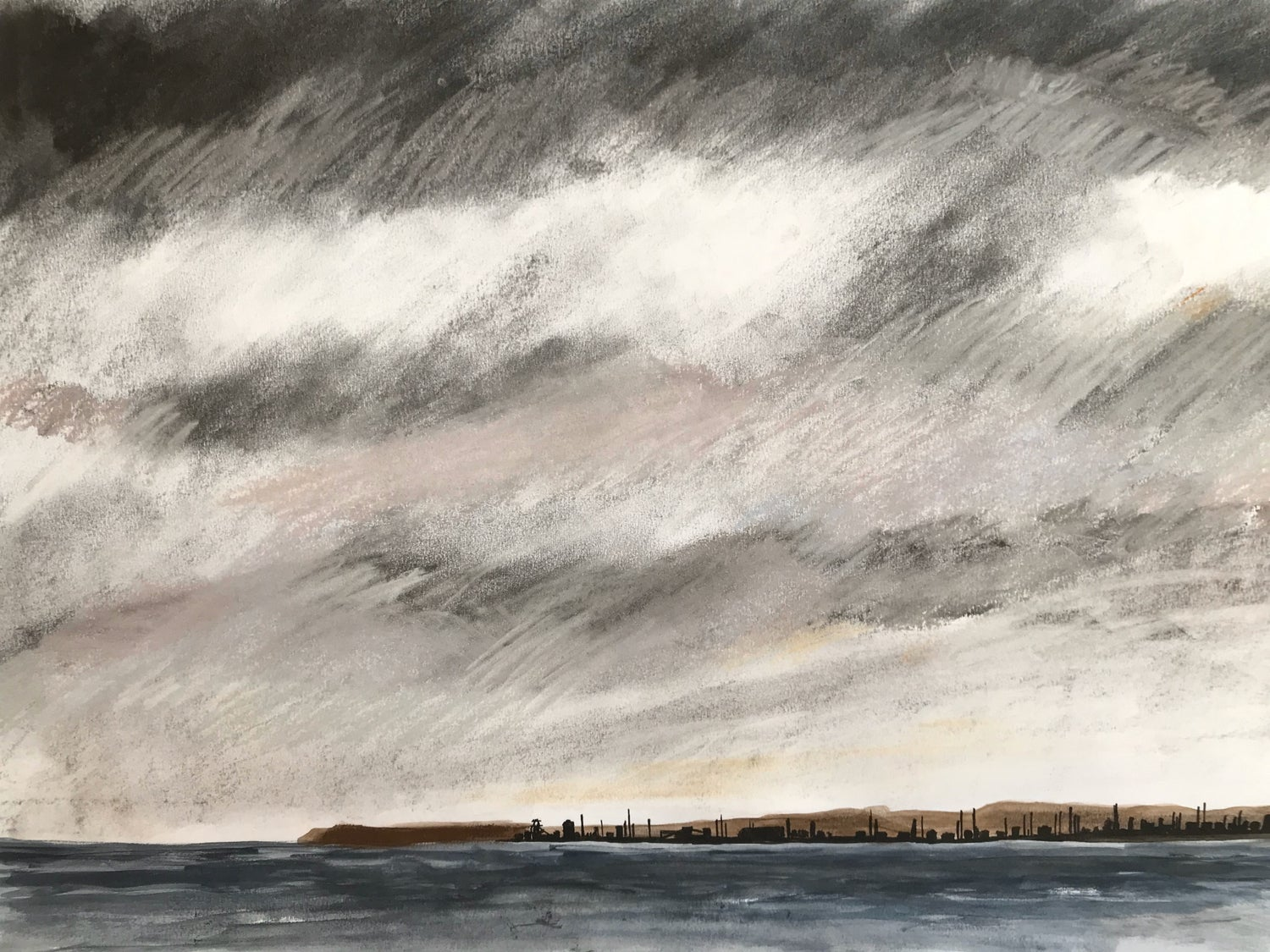Image of Redcar sky from the North Gare - Original