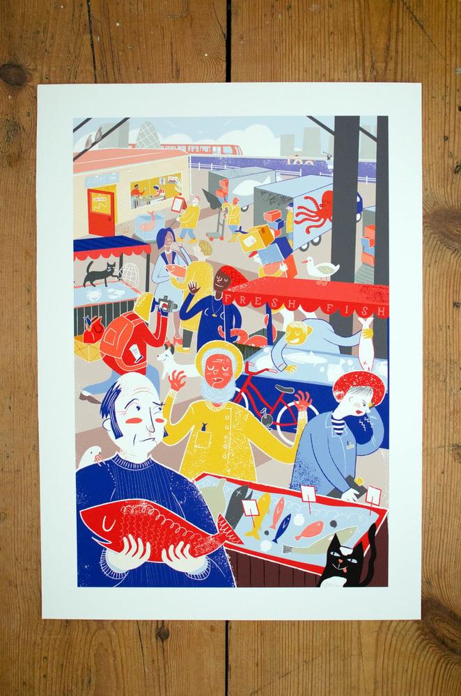 Image of Billingsgate Fish Market Print